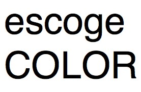 escoge color